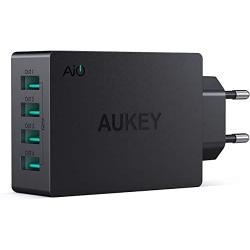 Chollo - Cargador de pared 4 USB Aukey PA-U36 40W