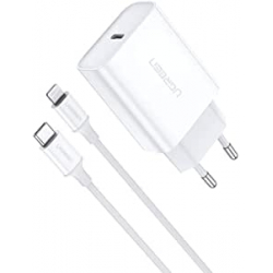 Chollo - Cargador USB-C Ugreen PD 3.0 18W + Cable USB-C a Ligthing