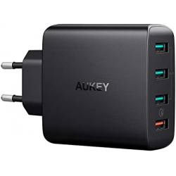 Chollo - Cargador USB de Pared Aukey 4 Puertos QC3.0