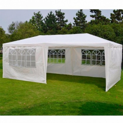 Chollo - Carpa gazebo Terracota con ventanas 6 x 3 m blanco