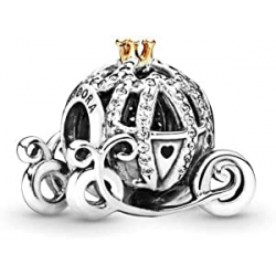 Chollo - Charm Pandora Disney Carroza de Cenicienta Abalorios plata y oro mujer | 791573CZ