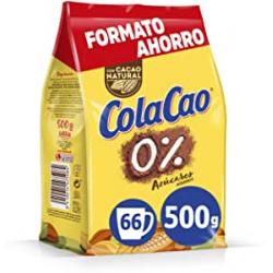 ColaCao 0% azúcares añadidos con cacao natural 500g