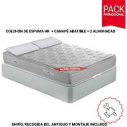 Chollo - Colchón Viscoelástico Pikolin 135x190 + Base Canapé + 2 Almohadas de Fibra