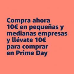 Chollo - Compra ahora 10€ en PYMES de Amazon y llévate 10€ gratis para el Prime Day