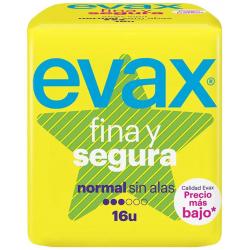 Chollo - Compresas Evax Fina y Segura Normal Sin alas (16 unidades)