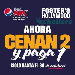 Chollo - Cupón Foster's Hollywood - Llega el que Invita (2x1)