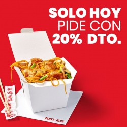 Chollo - Cupón Just Eat (-20%)