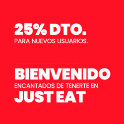 Chollo - Cupón Just Eat -25% (primer pedido)