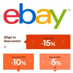 Chollo - Cupón para eBay (hasta -15%)