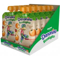 Chollo - Danonino Pouch Ecológico Naranja Manzana y Plátano Pack 12x 90g