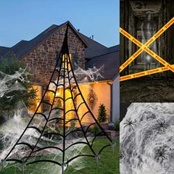 Chollo - Decoración Telarañas y arañas para Halloween E-More