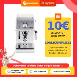 Chollo - Delonghi Cafetera Expreso Active Line ECP33.21.W. Café Molido Y Monodosis. 2 Tazas Simultáneas. Depósito 1,1 L. Color Blanco