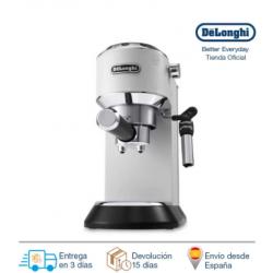 Chollo - Delonghi Cafetera Expreso Dedica EC685.W. Molido Y Monodosis. Espresso Y Cappuccino. Depósito 1,3 L. Antigoteo. Color Blanco