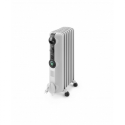 Chollo - De'Longhi Radiador De Aceite Radia S TRRS0715C. Calefactor Eléctrico Portátil Silencioso. Ruedas Plegables. 1.500 W