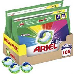 Chollo - Megapack Detergente en cápsulas Ariel Allin1 Pods 108 Lavados