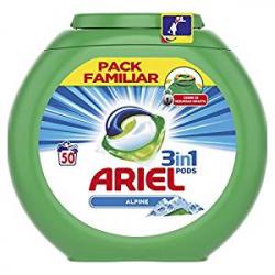 Chollo - Detergente en Cápsulas Ariel Pods 3 en 1 Alpine (50 Lavados)