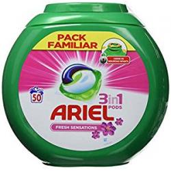 Chollo - Detergente en Cápsulas Ariel Pods 3 en 1 Fresh Sensations (50 Lavados)