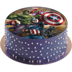 Chollo - Disco comestible para tarta Avengers 16cm | Dekora 231365