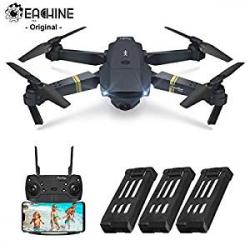 Chollo - Drone Plegable Eachine E58 WiFi FPV RTF con Cámara 2MP y 3 Baterías