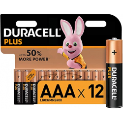 Chollo - Duracell Plus AAA Pilas alcalinas  LR03 MN2400 Blíster 12 uds