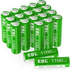Chollo - EBL 1100mAh AA 1.2V Blíster 20 Pilas recargables solares | EB-2A10005-ES