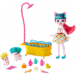 Chollo - Enchantimals Baño Splash de Petya Pig y sus dos mascotas cerditos | Mattel GJX36