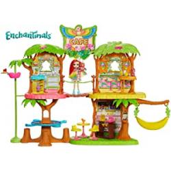 Chollo - Enchantimals: Cafetería Junglewood con muñeca y mascota Peeki Parrot - Mattel GFN59