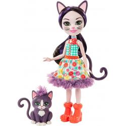 Chollo - Enchantimals Muñeca Ciesta Cat con mascota Climber | Mattel GJX40