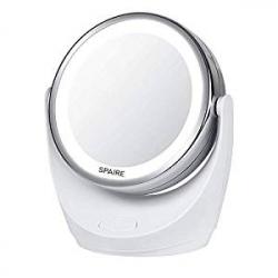 Espejo Cosmético Spaire Doble Cara 5X/1X LED (BE-H18)