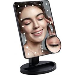 Chollo - Espejo de maquillaje LED con aumento Dufu 10x