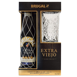 Chollo - Estuche de Regalo Brugal Extra viejo con Vaso