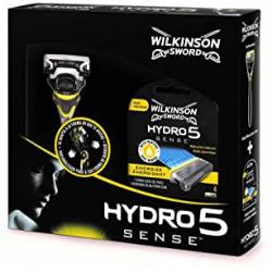 Chollo - Set Maquinilla de afeitar Wilkinson Sword Hydro 5 Sense Energize + 4 recambios - 7008041S