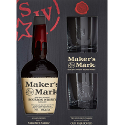Chollo - Estuche Maker´s Mark Bourbon Whiskey + 2 Vasos