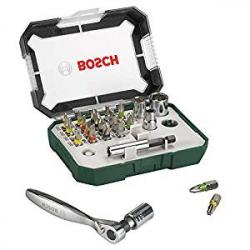 Chollo - Estuche para Atornillar Bosch 2607017322 con Llave Carraca (26 uds)