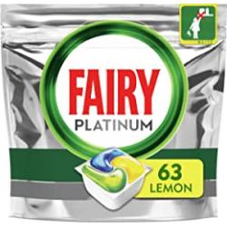 Chollo - Fairy Platinum Todo en Uno Limón Lavavajillas 63 Cápsulas | 4015400897125