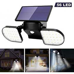 Chollo - Foco solar OUSFOT 56 LED con sensor de movimiento