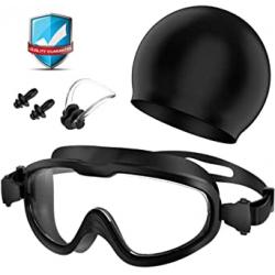 Chollo - Gafas + Gorro + Clip de nariz + Tapones de oidos Set de natación Flagicon
