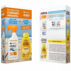 Chollo - Garnier Delial Protección Solar SPF50 crema Infantil 300 ml + Garnier champú Camomila 250 ml