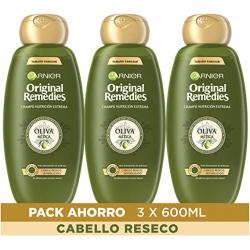 Chollo - Garnier Original Remedies Oliva Mítica Champú Pack 3x 600ml | XES04965