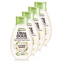 Chollo - Garnier Ultra Doux con leche de almendra y savia de agave Gel de ducha Pack 4x 250ml