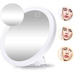 Chollo - Gemitto Espejo de maquillaje LED 5x 10x