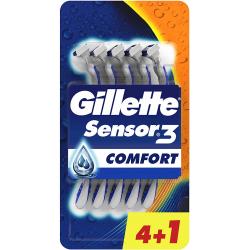 Chollo - Gillette Sensor3 Comfort Maquinilla de afeitar desechable Pack 4+1 uds
