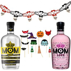 Chollo - González Byass Ginebras Mom Love 70cl + Mom Rocks 70cl + guirnaldas + accesorios photocall Pack de fiesta