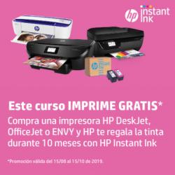 Gratis 10 Meses de Tinta al comprar una Impresora HP