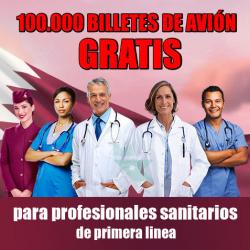 Chollo - Gratis 100.000 Billetes de Avión para Profesionales de Sanidad en Qatar Airways