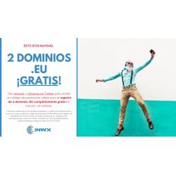 Chollo - Gratis: 2 dominios .eu por 1 año