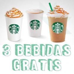 Chollo - Gratis 3 Bebidas en Starbucks con App Club VIPS