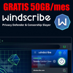 Chollo - Gratis para siempre 50GB/mes en Windscribe VPN