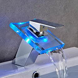 Chollo - Grifo de baño Auralum cascada RGB - Kalamo09230001