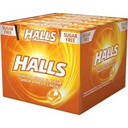 Chollo - Halls Miel y limón Caramelo duro Pack 20 Sticks 32g